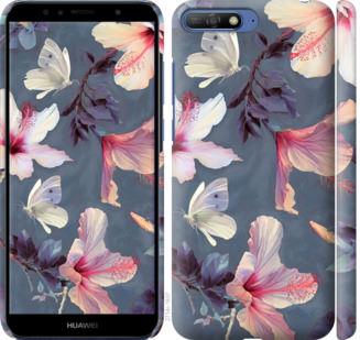 Чехол на Huawei Y6 2018 Нарисованные цветы