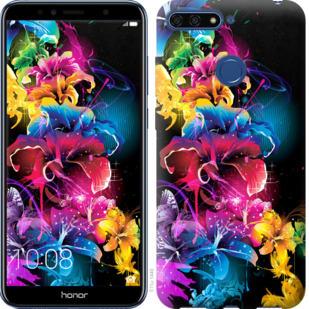 Чехол на Huawei Honor 7A Pro Абстрактные цветы