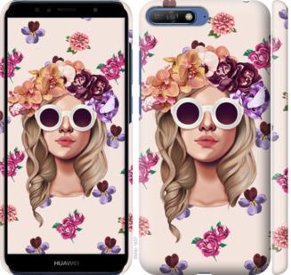 Чехол на Huawei Honor 9 Девушка с цветами v2