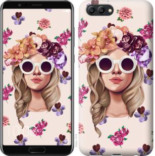 Чехол на Huawei Honor V10 / View 10 Девушка с цветами v2