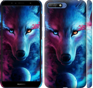 Чехол на Huawei Y6 2018 Арт-волк