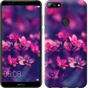 Чехол на Huawei Y7 Prime 2018 Пурпурные цветы