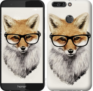 Чехол на Huawei Honor V9 / Honor 8 Pro Лис в очках