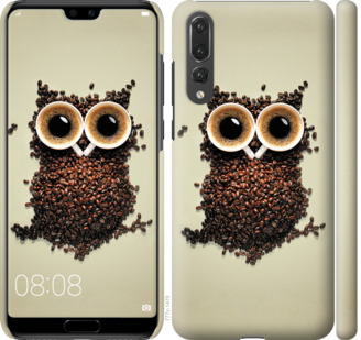 Чехол на Huawei P20 Pro Сова из кофе
