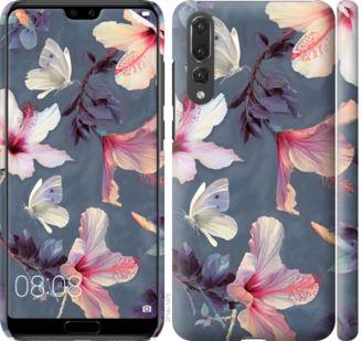 Чехол на Huawei P20 Pro Нарисованные цветы