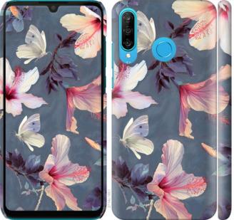 Чехол на Huawei P30 Lite Нарисованные цветы