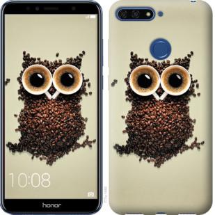 Чехол на Huawei Honor 7A Pro Сова из кофе
