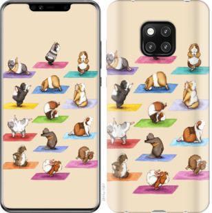 Чехол на Huawei Mate 20 Pro Йога морских свинок