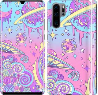 Чехол на Huawei P30 Pro Розовая галактика