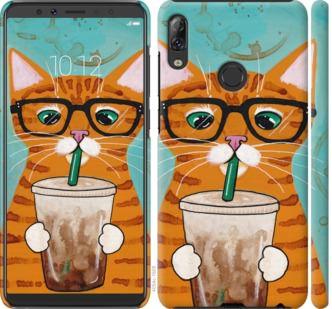 Чехол на Lenovo K5 Pro Зеленоглазый кот в очках