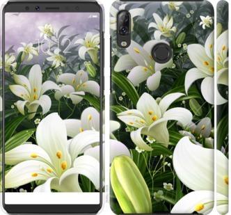 Чехол на Lenovo K5 Pro Белые лилии