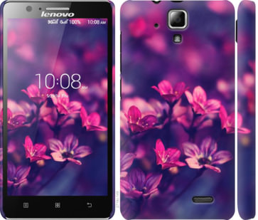 Чехол на Lenovo A536 Пурпурные цветы