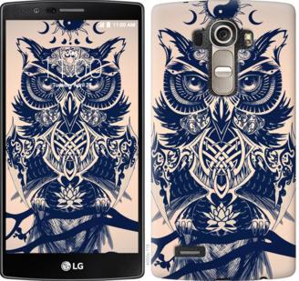 Чехол на LG G4 H815 Узорчатая сова