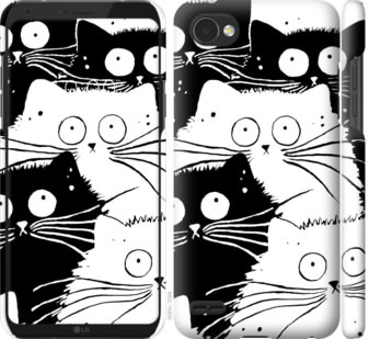 Чехол на LG Q6 Коты v2