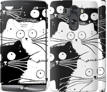 Чехол на LG G3 D855 Коты v2