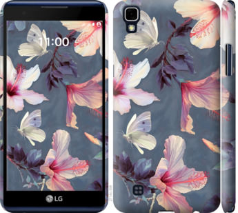 Чехол на LG X Power K220DS Нарисованные цветы
