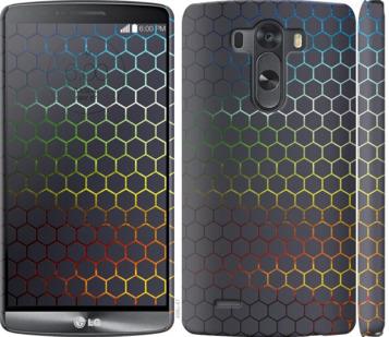 Чехол на LG G3 D855 Переливающиеся соты