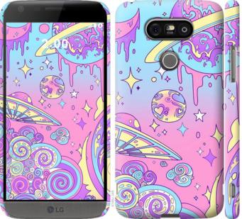Чехол на LG G5 H860 Розовая галактика