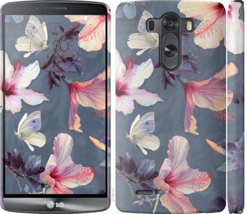 Чехол на LG G3 D855 Нарисованные цветы