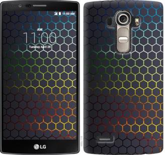Чехол на LG G4 H815 Переливающиеся соты