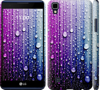 Чехол на LG X Power K220DS Капли воды