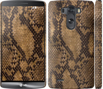 Чехол на LG G3 D855 Змеиная кожа