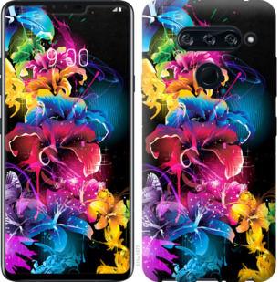 Чехол на LG V40 ThinQ Абстрактные цветы