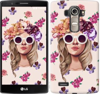 Чехол на LG G4 H815 Девушка с цветами v2