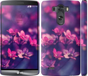 Чехол на LG G3 D855 Пурпурные цветы