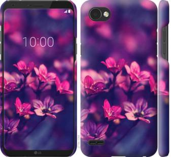 Чехол на LG Q6 Пурпурные цветы