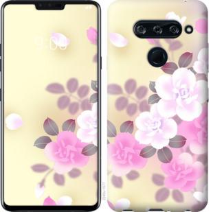 Чехол на LG V40 ThinQ Японские цветы