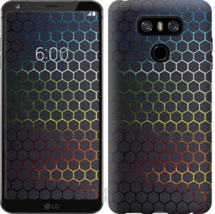 Чехол на LG G6 Переливающиеся соты