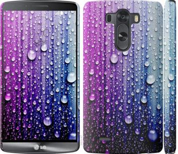 Чехол на LG G3 D855 Капли воды