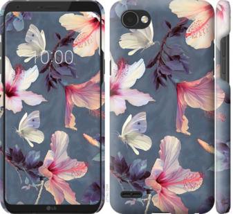 Чехол на LG Q6 Нарисованные цветы