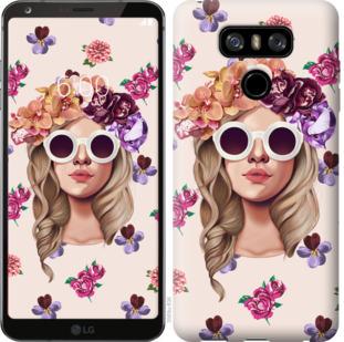 Чехол на LG G6 Девушка с цветами v2