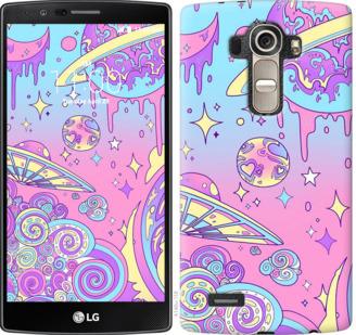 Чехол на LG G4 H815 Розовая галактика