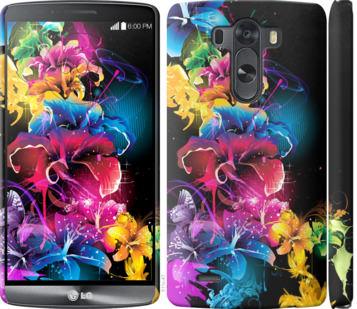 Чехол на LG G3 D855 Абстрактные цветы