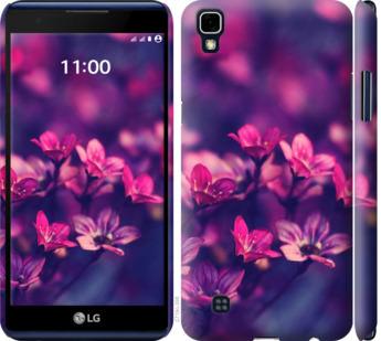 Чехол на LG X Power K220DS Пурпурные цветы