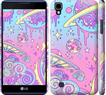 Чехол на LG X Power K220DS Розовая галактика