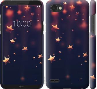Чехол на LG Q6 Падающие звезды