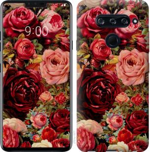 Чехол на LG V40 ThinQ Цветущие розы