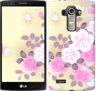 Чехол на LG G4 H815 Японские цветы