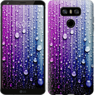 Чехол на LG G6 Капли воды