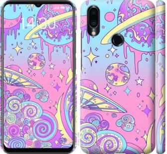 Чехол на Meizu Note 9 Розовая галактика