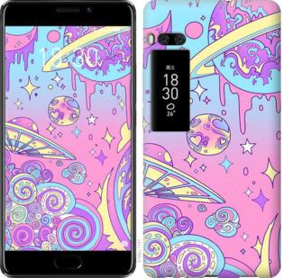Чехол на Meizu Pro 7 Plus Розовая галактика