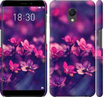 Чехол на Meizu M6s Пурпурные цветы