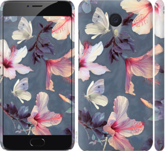 Чехол на Meizu M3 Note Нарисованные цветы
