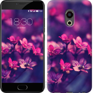 Чехол на Meizu Pro 6 Пурпурные цветы