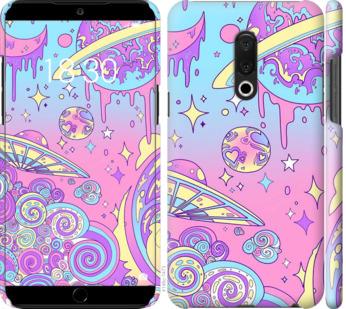 Чехол на Meizu 15 Plus Розовая галактика