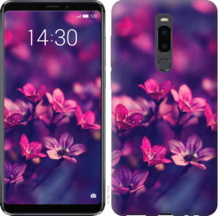 Чехол на Meizu Note 8 Пурпурные цветы